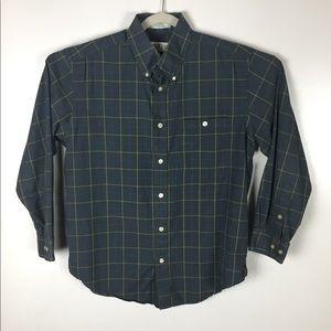 Orvis cotton plaid button down shirt. Large